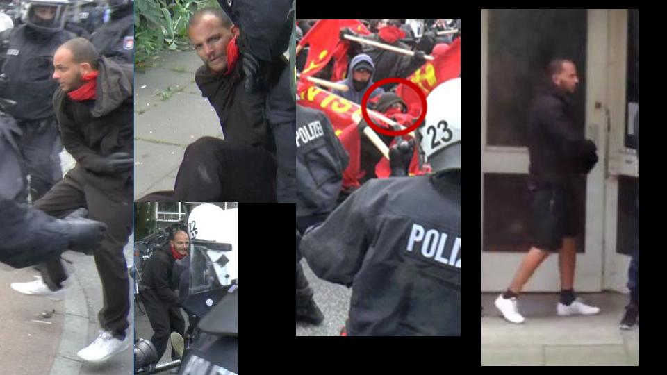 Polizei fahndet nach über 100 mutmaßlichen G20-Gewalttätern mit Fotos.